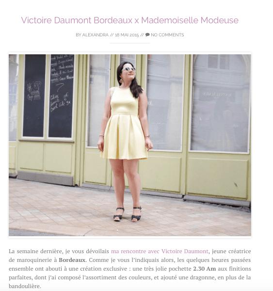 Mademoiselle Modeuse Look